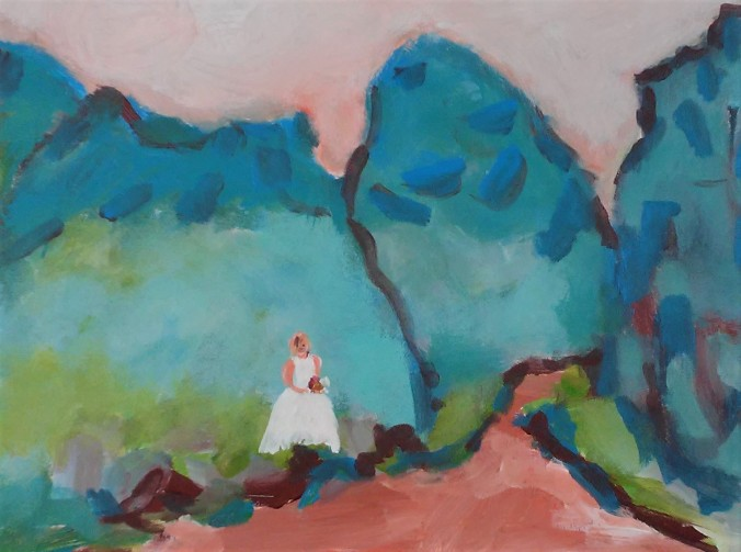 Bride in the Canyon (2)